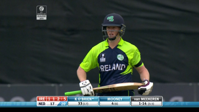 Kevin O'Brien Wicket – IRE vs NED