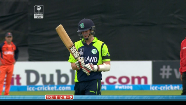 George Dockrell Wicket – IRE vs NED