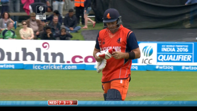 Michael Swart Wicket – IRE vs NED