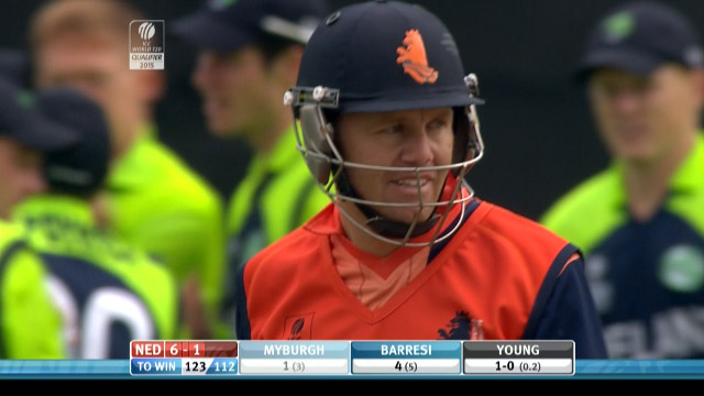 Stephan Myburgh Wicket – IRE vs NED