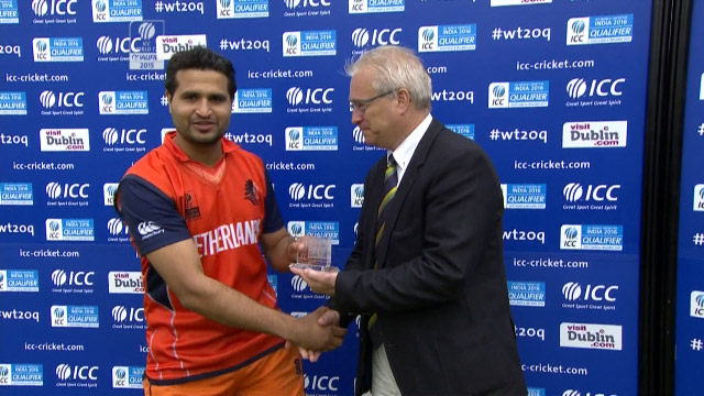 Player of the Match- Mudassar Bukhari – IRE vs NED