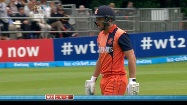Wesley Barresi Wicket – IRE vs NED
