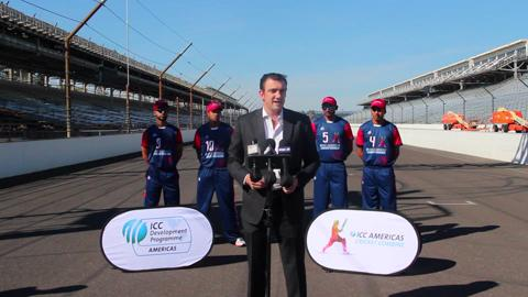 ICC Americas Cricket Combine promo at Indy Motor Speedway