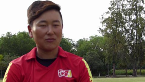 China and Zimbabwe Interviews with match footage