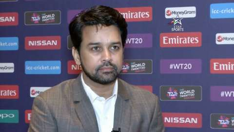 BCCI Secretary Anurag Thakur interview at ICC WT20 launch