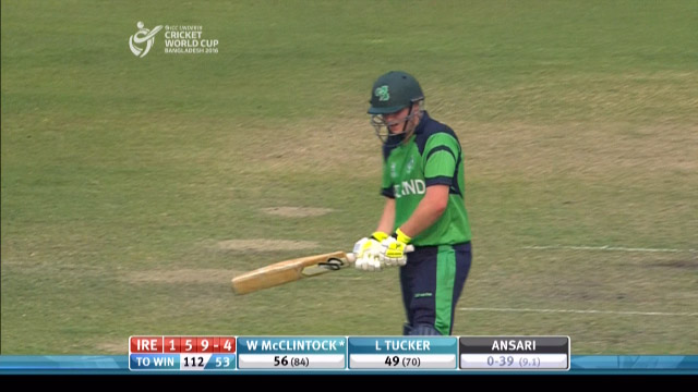 W McClintock Wicket – IRE v IND