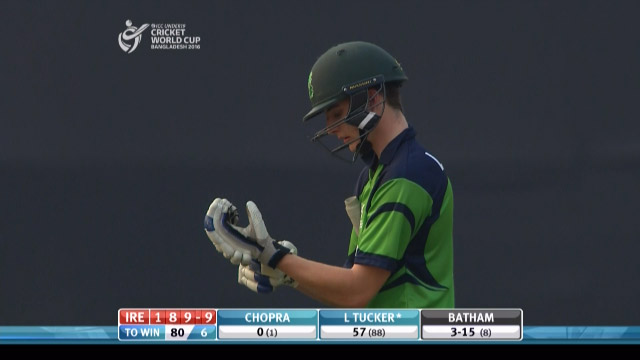 L Tucker Wicket – IRE v IND