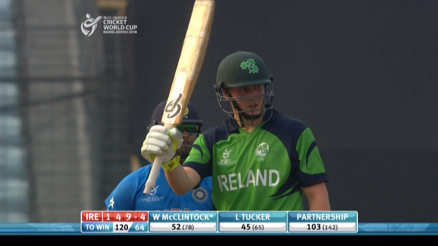 W McClintock Innings – IRE v IND