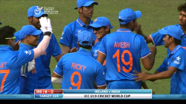Ireland Innings Wickets – IRE v IND