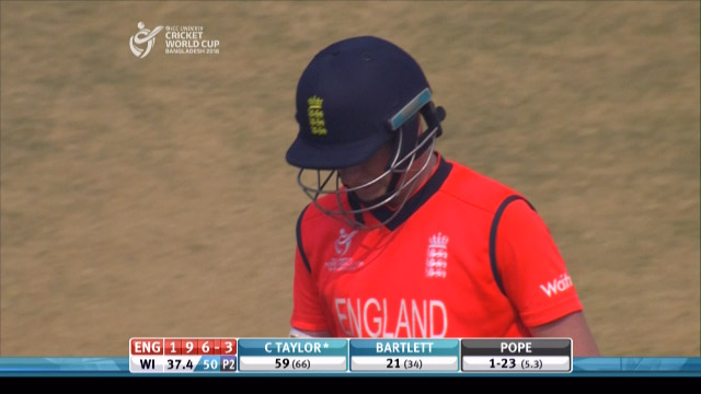 C Taylor Wicket – ENG v WI