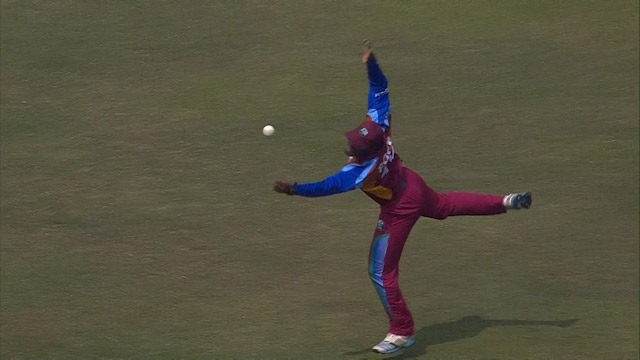 Pope nearly grabs a one handed stunner – ENG v WI