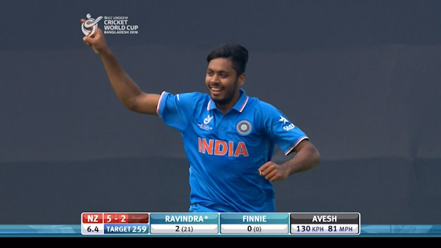 Perfect Start from Avesh Khan with the ball – IND v NZ
