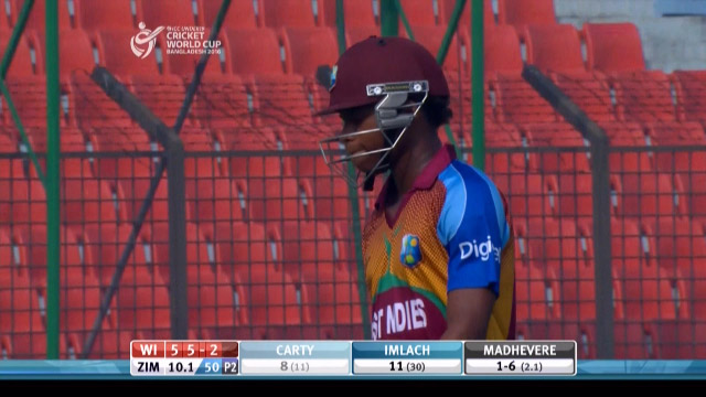 Carty Wicket – WI v ZIM