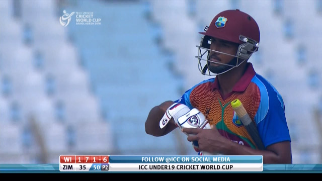 Disastrous run-out for West Indies – WI v ZIM