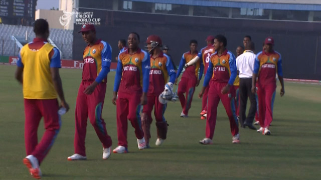 West Indies v Zimbabwe final moments