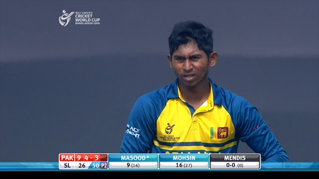​Look right, look left – it's Kamindu Mendis in action