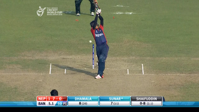 Nepal Innings Wickets – BAN v NEP