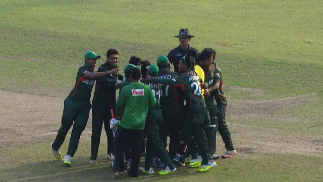 Match highlights – BAN v NEP