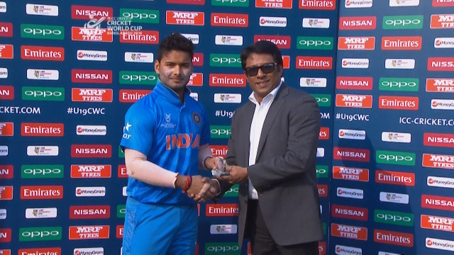 Man of the Match – Rishabh Pant – IND v NAM