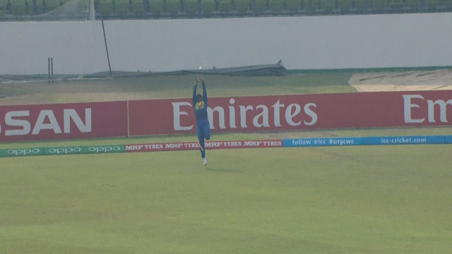 Nimesh takes a stunning catch!