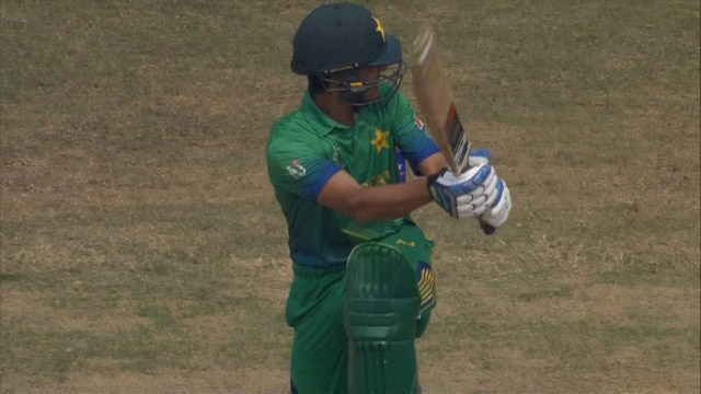 Masood smashes huge Six for Pakistan