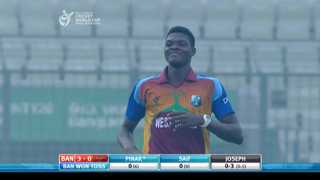Alzarri Joseph hostile start to Semi-Final