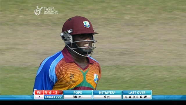 Pope Wicket – BAN v WI