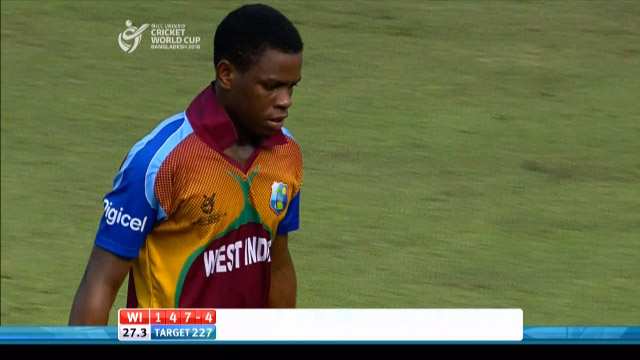 West Indies Innings Wickets – BAN v WI
