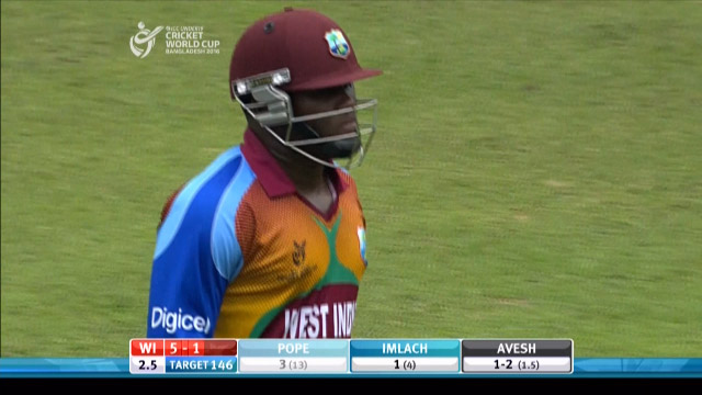 Pope Wicket – IND v WI