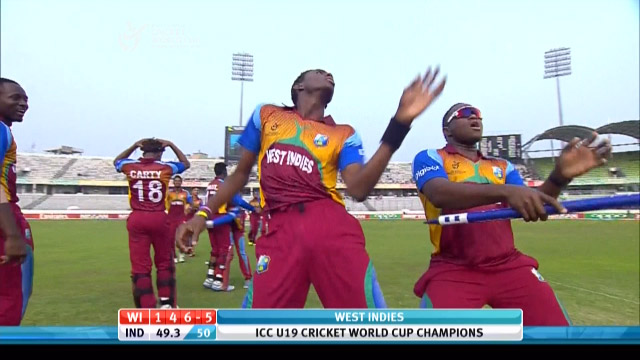 West Indies Inning winning Shot –  IND v WI