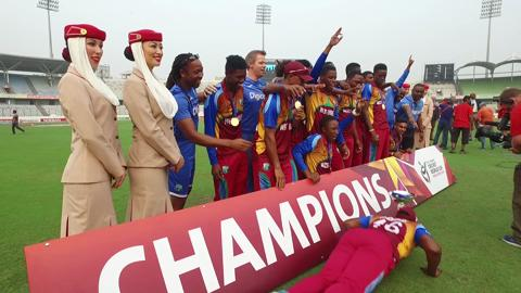 West Indies Celebrations after U19CWC Win!