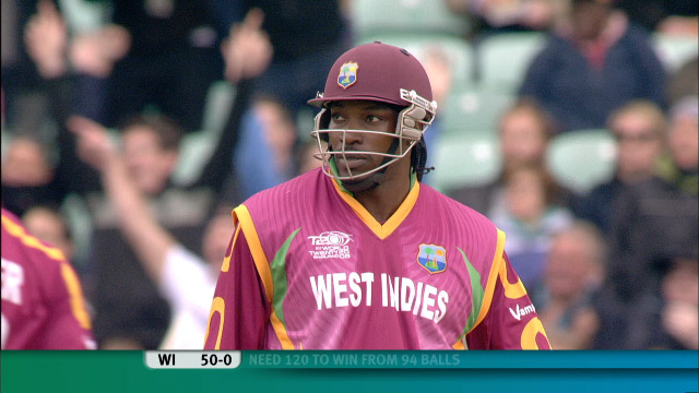 Chris Gayle v Brett Lee at the Oval
