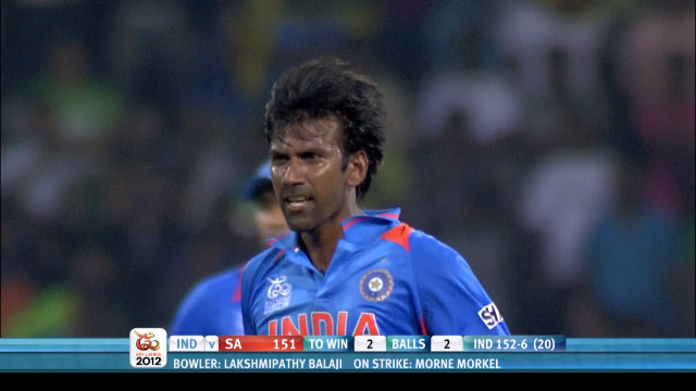 India win a 1 run thriller v South Africa WT20 2012