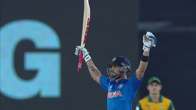 Virat Kohli class too good for South Africa in Semi 72 off 44 balls in Man of Tournament effort