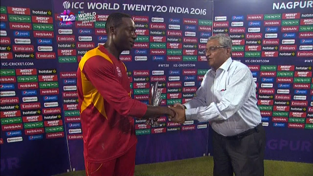 Player of the Match – Sibanda  – ZIM v HK