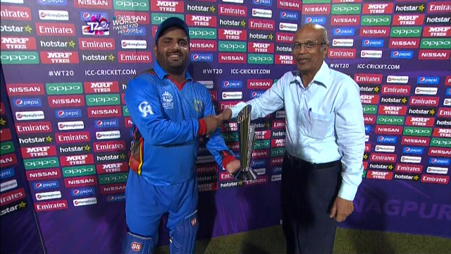 Player of the Match – Mohammad Shahzad  – SCO v AFG