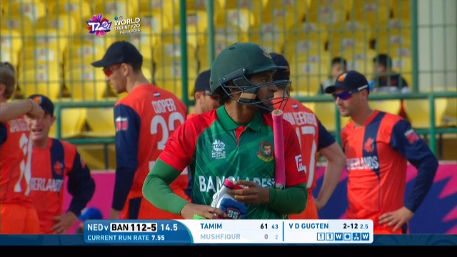 Mushfiqur Rahim Wicket Fall BAN V NET Video ICC WT20 2016