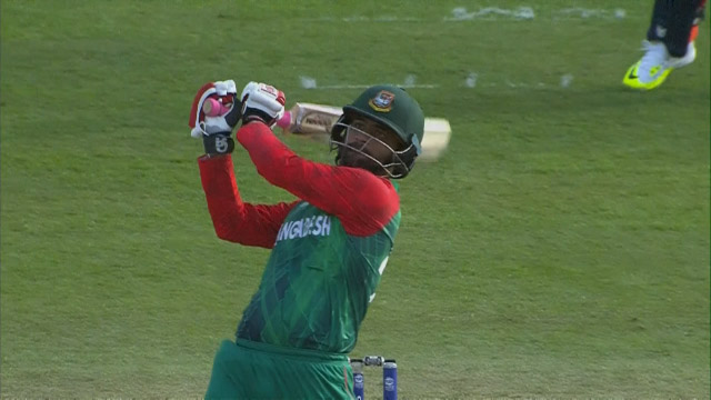 Tamim smashes HUGE six in final over even