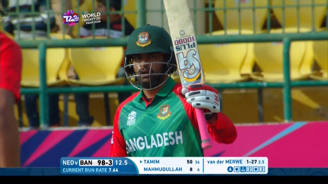 Cricket Highlights from Bangladesh Innings v Netherlands ICC WT20 2016