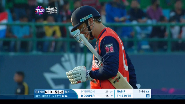 Stephan Myburgh Wicket Fall NET V BAN Video ICC WT20 2016