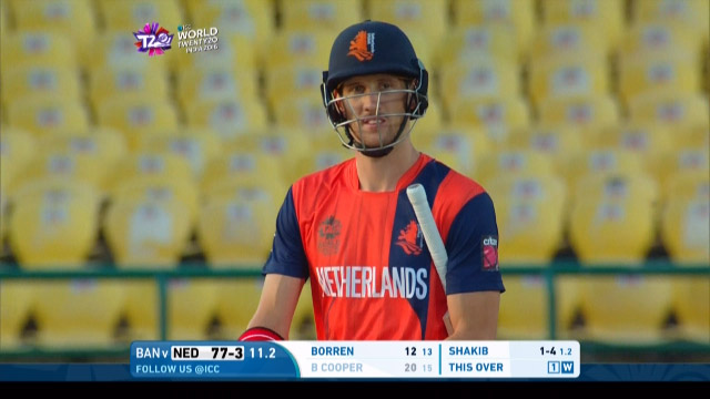 Ben Cooper Wicket Fall NET V BAN Video ICC WT20 2016