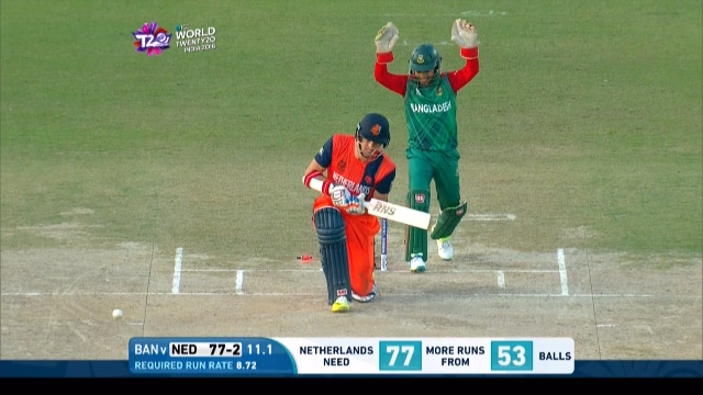 Netherlands Wicket Losses v Bangladesh Video ICC