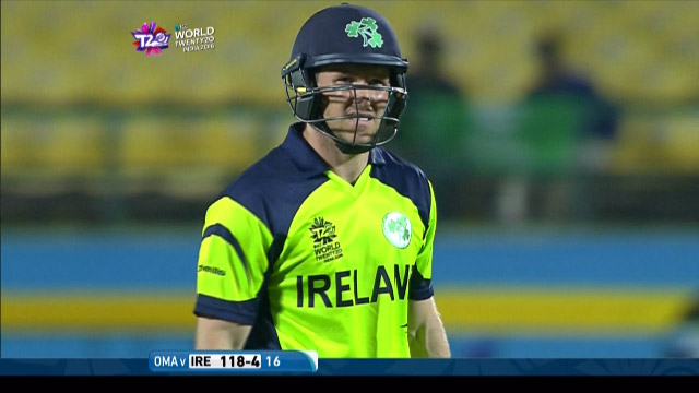 Gary Wilson Wicket Fall IRE V OMA Video ICC WT20 2016