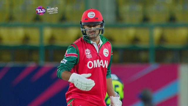 Zeeshan Maqsood Innings for Oman V Ireland Video ICC WT20 2016