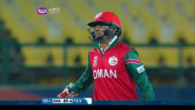 Mehran Khan Wicket Fall OMA V IRE Video ICC WT20 2016