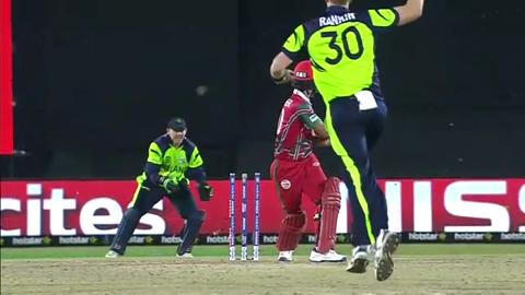 Jatinder Singh Wicket Fall OMA V IRE Video ICC WT20 2016