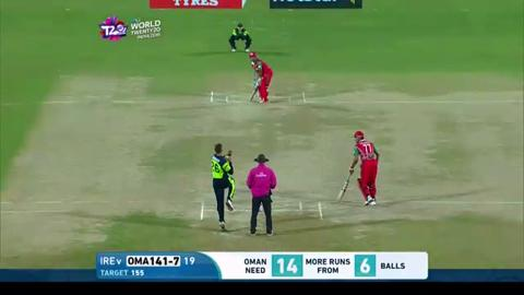 Amir Ali Innings for Oman V Ireland Video ICC WT20 2016