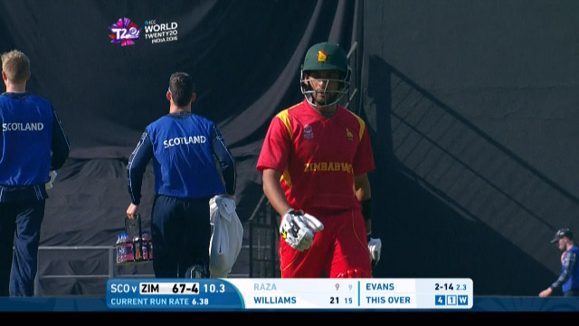 Sikandar Raza Wicket Fall ZIM V SCO Video ICC WT20 2016