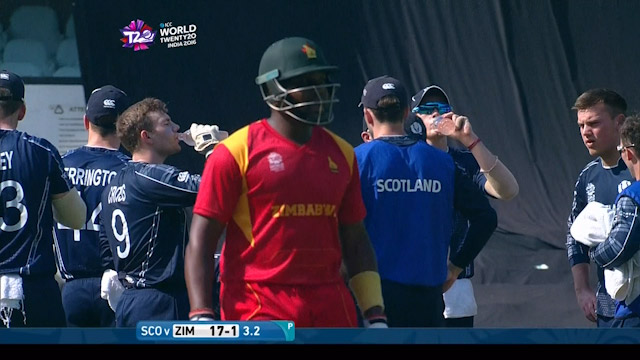Hamilton Masakadza Wicket Fall ZIM V SCO Video ICC WT20 2016