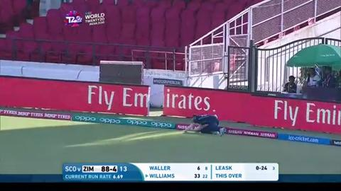 Sean Williams Innings for Zimbabwe V Scotland Video ICC WT20 2016